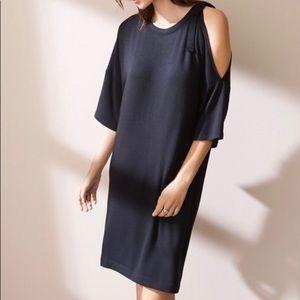 Lou & Grey Black Signaturesoft Tie-Shoulder Dress